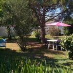 parc privée avec mobilier de jardin
